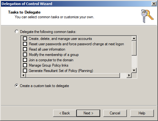 How to delegate access to BitLocker Recovery information in Active